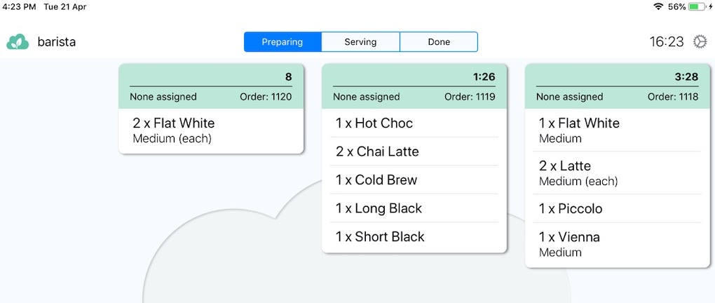 Paperless - Orders appearing on screen