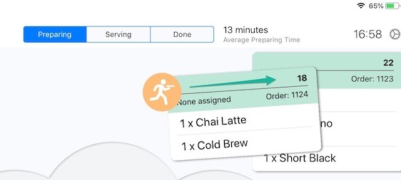 Paperless - Moving Orders through Stages